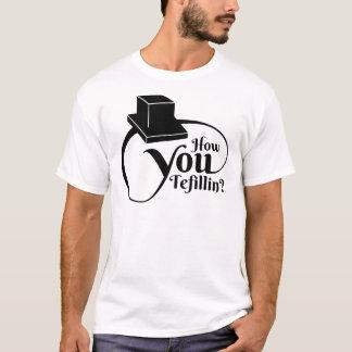 "Camiseta ""Cómo usted Tefillin"" (negro)"