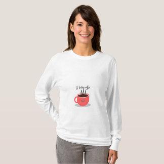 Camiseta Comoda ropa de amo el cafe, I love coffe