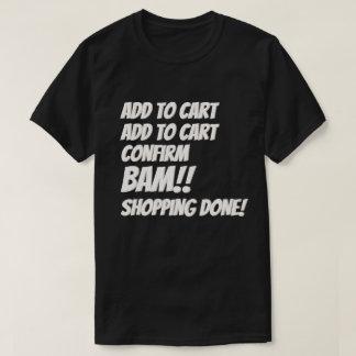 Camiseta Compras cibernéticas del Internet del navidad del