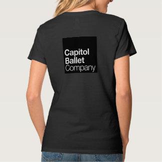 Camiseta con cuello de pico básica de Capitol