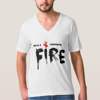 Camiseta con cuello de pico cristiana