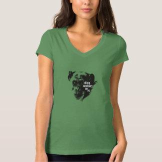 Camiseta con cuello de pico de Bella con la imagen