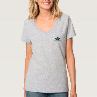 Camiseta con cuello de pico de Hanes de las