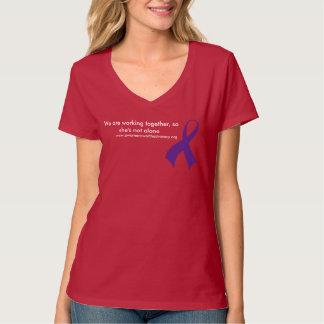 camiseta con cuello de pico de la defensa de la