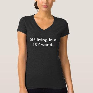 Camiseta con cuello de pico de las señoras