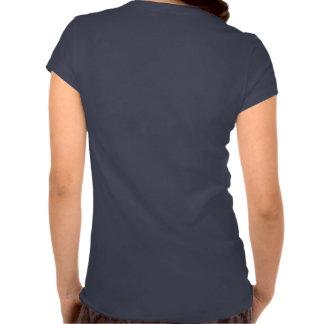 Camiseta con cuello de pico de las señoras (texto