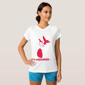 Camiseta con cuello de pico Doble-Seca de las