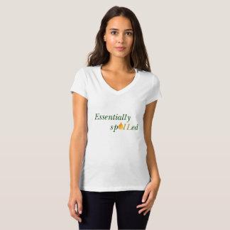 Camiseta con cuello de pico esencialmente