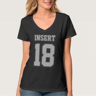 Camiseta con cuello de pico nana de las mujeres de
