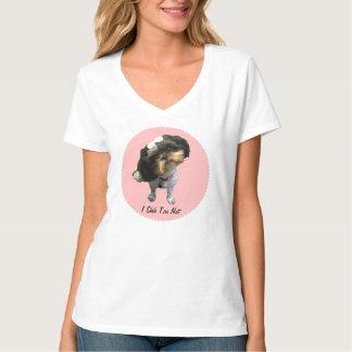Camiseta con cuello de pico nana de Shih Tzu Hanes
