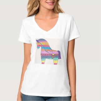 Camiseta con cuello de pico nana w/horse de Hanes