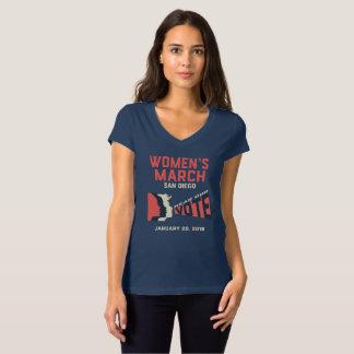 Camiseta con cuello de pico oficial de marzo San