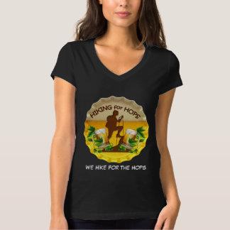 Camiseta con cuello de pico para mujer de