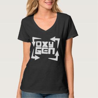 camiseta con cuello de pico para mujer del oxígeno