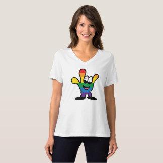 Camiseta con cuello de pico relajada del orgullo