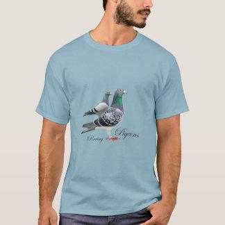 Camiseta con dúo de palomas mensajeras