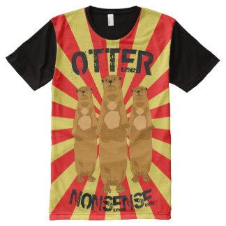 Camiseta Con Estampado Integral Absurdo de la nutria