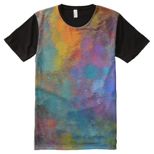Camiseta Con Estampado Integral aceite derramado