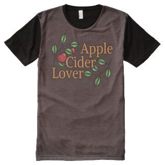 Camiseta Con Estampado Integral Amante de la sidra de Apple