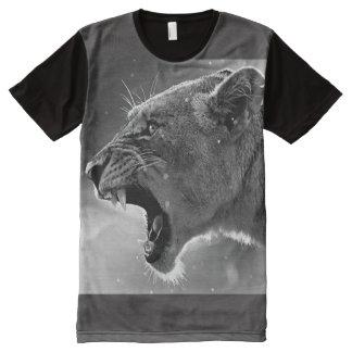 Camiseta Con Estampado Integral amor maternal Leona-Aullido-valiente, sincero