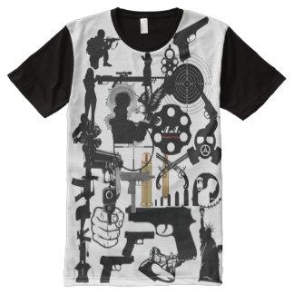 Camiseta Con Estampado Integral Apoye las sus derechas