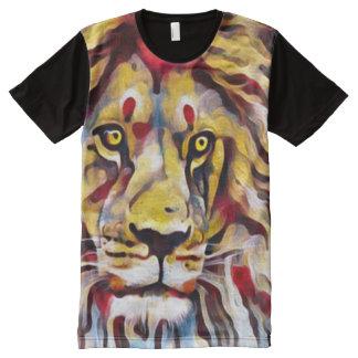 Camiseta Con Estampado Integral Arte colorido de la calle de la pintura de aceite