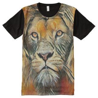 Camiseta Con Estampado Integral Arte colorido del lápiz de la acuarela de Jesús