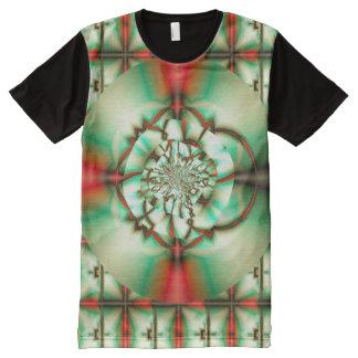 Camiseta Con Estampado Integral Arte del fractal de la multa del extracto de la