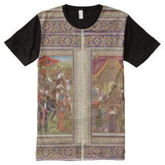 Camiseta Con Estampado Integral Arte musulmán islámico de Boho del Islam de la