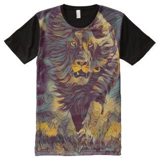 Camiseta Con Estampado Integral Arte nuevo gráfico del estilo del león colorido