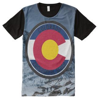 Camiseta Con Estampado Integral Bandera de la circular de Colorado
