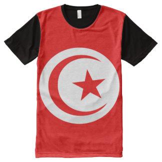 Camiseta Con Estampado Integral Bandera de Túnez