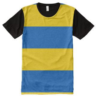Camiseta Con Estampado Integral Bandera de Ucrania - bandera ucraniana -