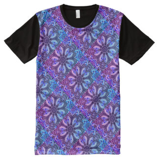Camiseta Con Estampado Integral Caleidoscopio del Poolside - mosaico fresco