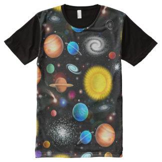 Camiseta Con Estampado Integral Camisa colorida del espacio de la astronomía