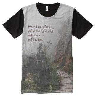 Camiseta Con Estampado Integral Camisa de los buscadores de la verdad