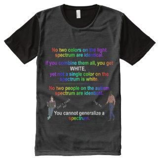 Camiseta Con Estampado Integral Camisa del espectro del autismo