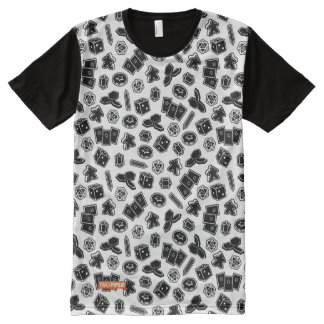 Camiseta Con Estampado Integral Camisa del modelo del juego de mesa
