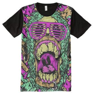 Camiseta Con Estampado Integral Cara psicodélica