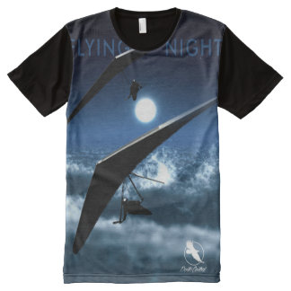 Camiseta Con Estampado Integral Central de Ponto de la noche del vuelo del ALA