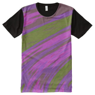 Camiseta Con Estampado Integral Chasquido púrpura del color verde