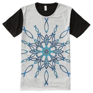 Camiseta Con Estampado Integral Copo de nieve de Ichthus
