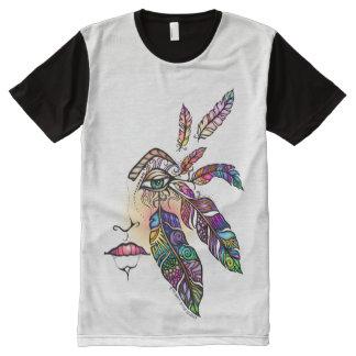 Camiseta Con Estampado Integral El amor del OJO EMPLUMA arte de la fantasía