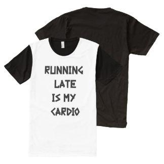 Camiseta Con Estampado Integral El funcionamiento tarde es mi cardiio