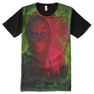 Camiseta Con Estampado Integral Espectro rojo