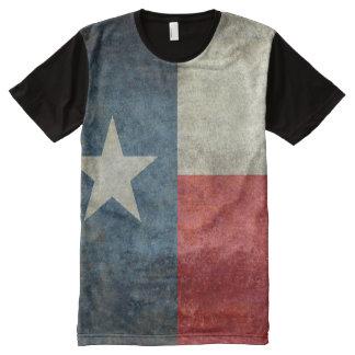 Camiseta Con Estampado Integral Estilo retro del vintage de la bandera del estado