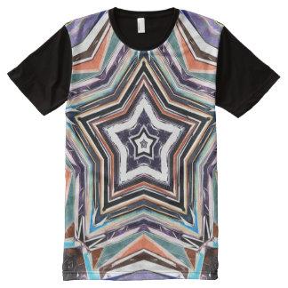 Camiseta Con Estampado Integral Estrella espectral abstracta