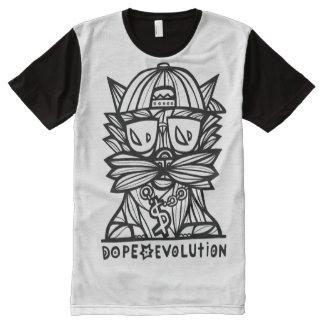 Camiseta Con Estampado Integral Evolución BuddaKats de la droga por todo la camisa