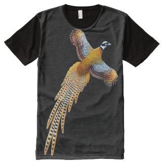 Camiseta Con Estampado Integral Faisán de Reeves del vuelo por todo la camisa del