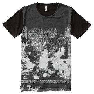 Camiseta Con Estampado Integral Foto blanco y negro
